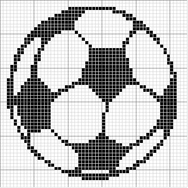 Soccer Ball Knitting Pattern : Angels Crochet - Soccer Ball Chart